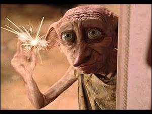 In Harry Potter and the Order of the Phoenix, Dobby decorates the Room of Requirement for Christmas. What do his decorations say?