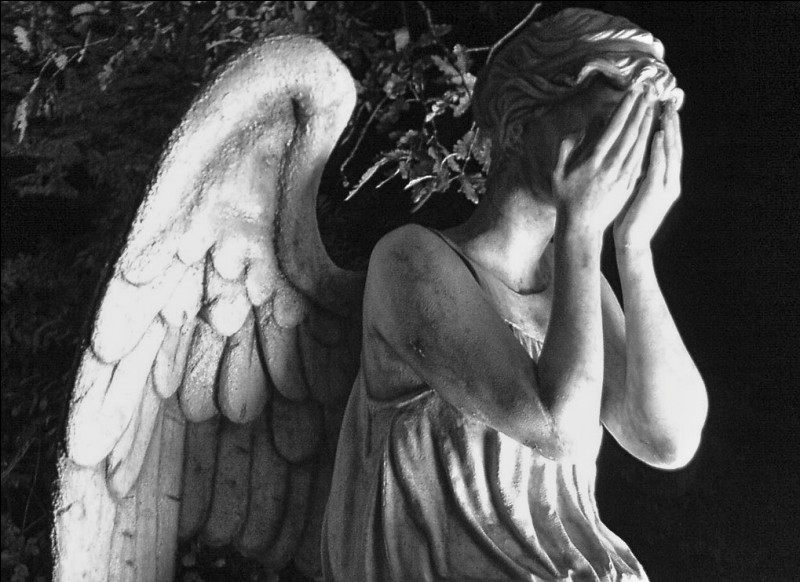 """""""And the angel was sobbing tearless, broken sobs."""""""