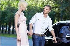 """""""He opens up my door and I get into his car, and he says you look beautiful tonight."""""""