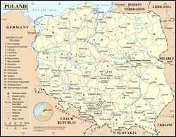 What is the surface area of Poland?
