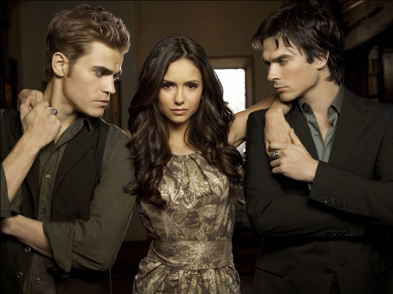 Just like in the TV series, Elena loves both Damon and Stefan in the books. But there is one big difference in their love triangle :