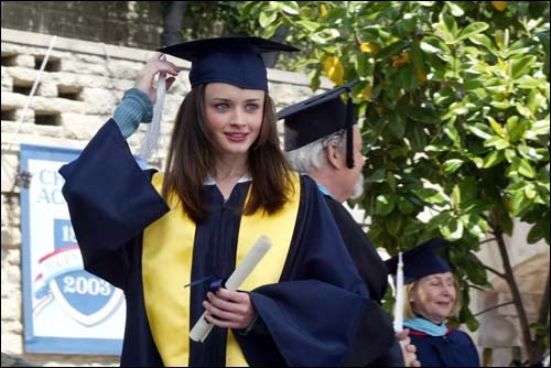 What are two authors that Rory references in her Chilton graduation speech?