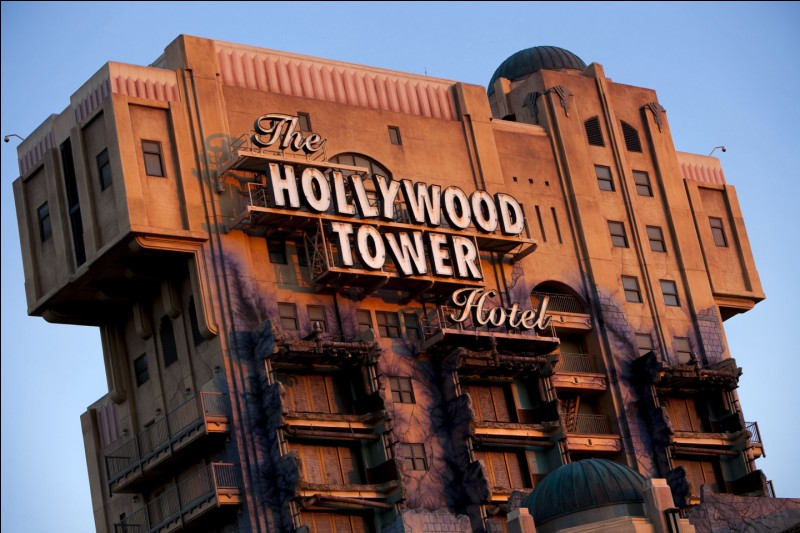 You are in front of a scary attraction in Disneyland, for example, the Tower of Terror, the staff makes you scare...