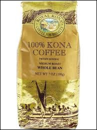 "Which country is the origin of this type of coffee ""Kona"" ?"