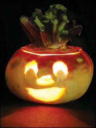It was the first vegetable to be carved for Halloween.