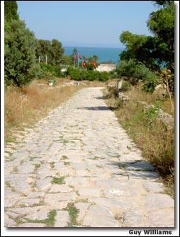 How were Roman roads bult?