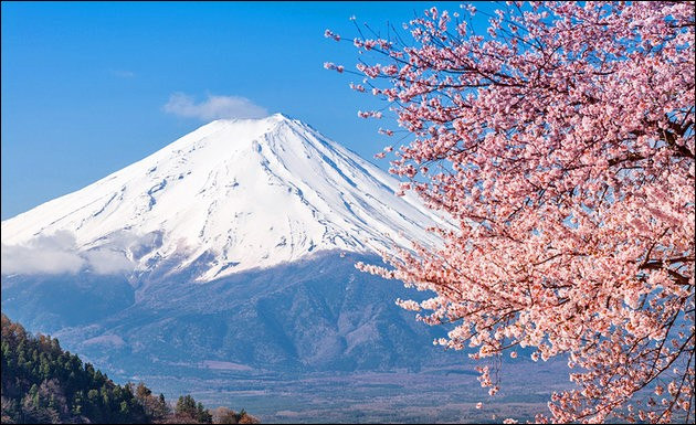 Located on Honshu Island, it is the highest mountain in Japan : ...