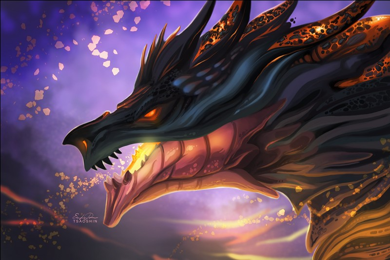 Infernia is part dragon. Does she have scales?