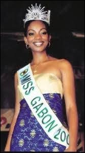 Who was elected most beautiful woman on Gabon in 2001 ?