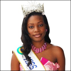 Who was elected most beautiful woman on Gabon in 2008 ?