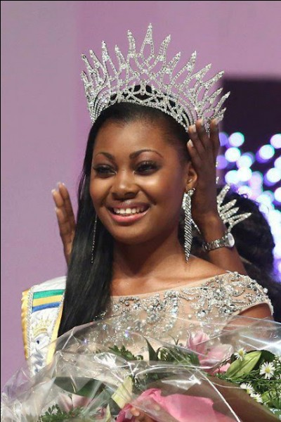 Who was elected most beautiful woman on Gabon in 2013 ?