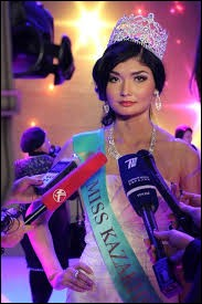 Who was elected most beautiful woman in Kazakhstan in 2012 ?