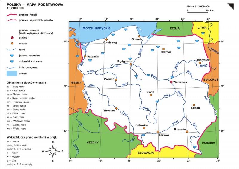 How many countries border Poland?