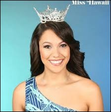 Who was elected most beautiful woman on Hawaii in 2014 ?