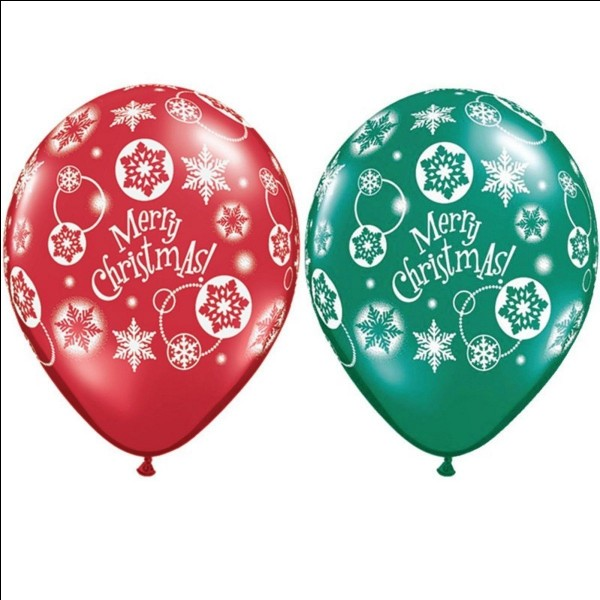 Which of the following is the correct gas to inflate balloons for your Christmas party?