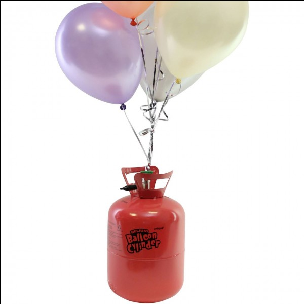 You've used gas to fill balloons for your Christmas party, what should you then do?