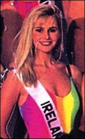 Who was elected most beautiful woman on Ireland in 1990 ?