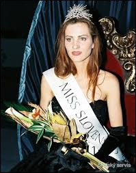 Who was elected as the most beautiful woman on Slovakia in 1995 ?