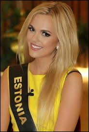 Who was elected as the most beautiful woman on Estonia in 2011 ?