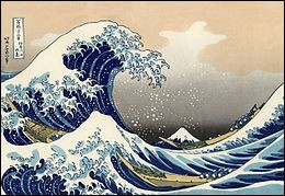 "Who painted ""The great wave of Kannagawa"" ?"