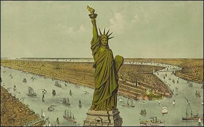 Which country offered the statue to american people?