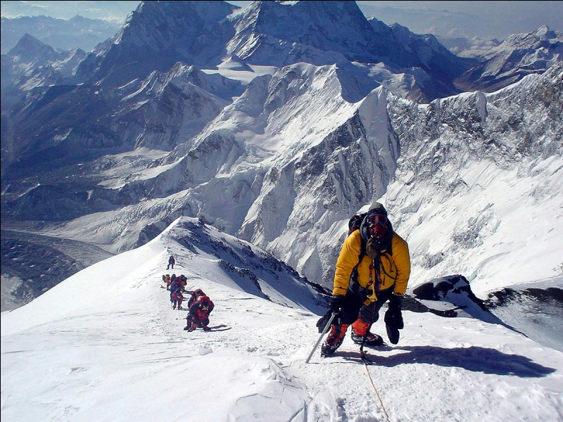 Do more deaths occur on the way down from the summit or on the way up?