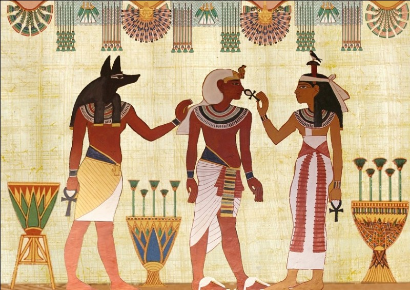 According to the Egyptians of antiquity, who was going by boat in the sky?
