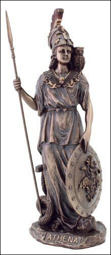 What is the symbol of the goddess Athena?