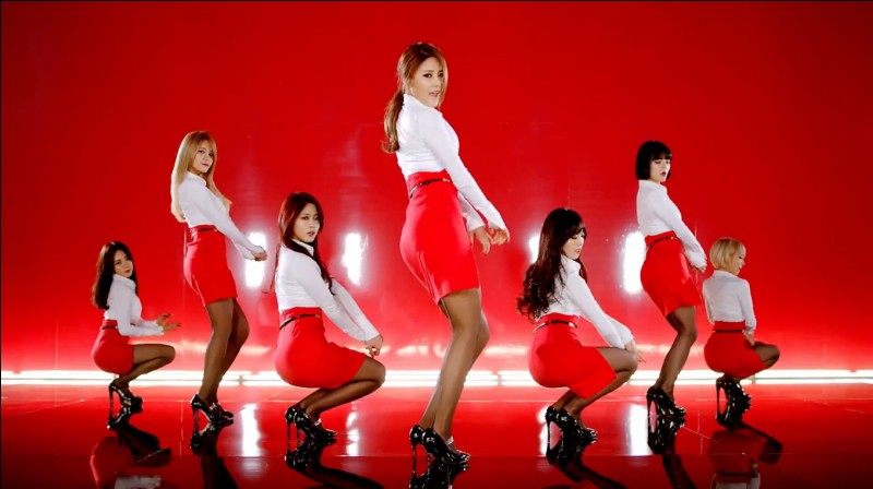 In 2014, AOA girl band made its biggest commercial success. But with what song?