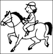 Quel jour ton père fait-il du cheval ?