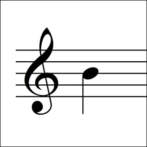 Which treble note is shown?