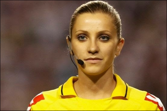 What country is the referee (Soccer) Fernanda Colombo from ?