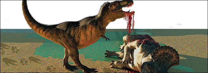 What did the t-rex eat?