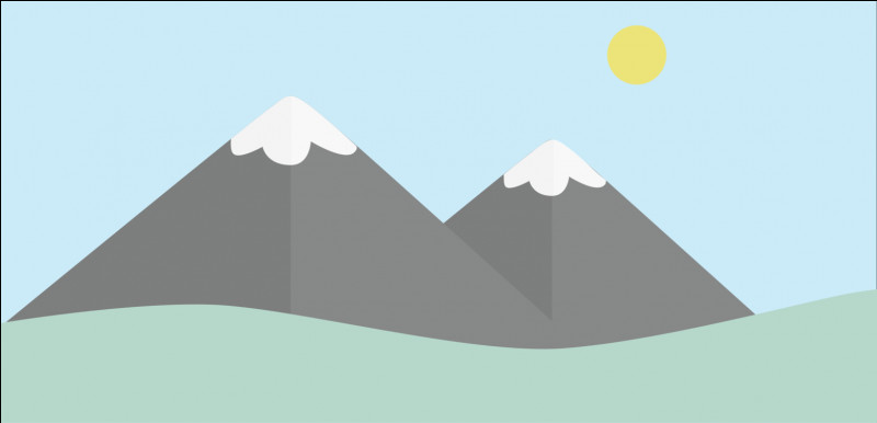 Guess the shape of mountains?