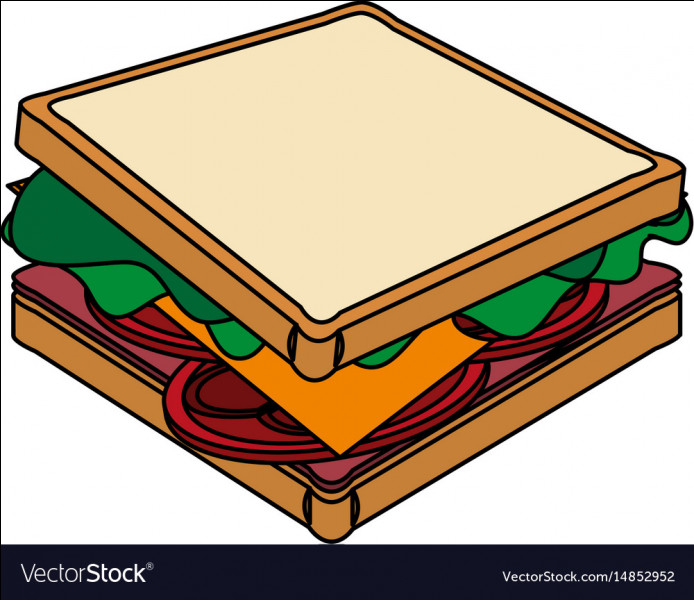 Guess the shape of the sandwich?