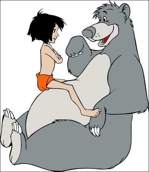 What is the name of this little boy abandoned in the Indian jungle whose best friend is the bear Baloo ?