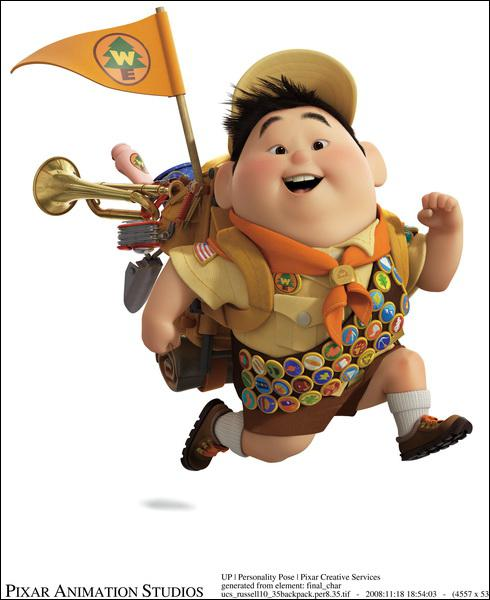 What is the name of this young boy scout who helps old Carl Fredricksen achieve his childhood dreams ?