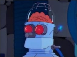Who had the unfortunate idea of ? ?transplanting Homer's brain into a robot's head in a Halloween Special episode ?