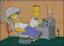 What is the name of the mad scientist who had the crazy idea of analyzing Homer's brain ?