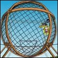 What does Homer earn by participating in a fairground competition that involves doing complete motorcycle tours in a metallic sphere ?