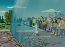 Thanks to a motorbike, Homer manages to channel the explosion at the top of the dome. The explosion causes its destruction. Who is the only victim of the operation ?