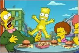What stupid challenge does Homer throw at Bart ?