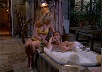 Who takes a bath comfortably installed (in the credits of the series) ?