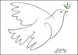 Who drew The Dove of Peace in 1949 ?