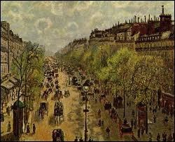 Which artist painted Boulevard Montmartre ?