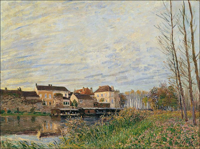 Which artist painted Un soir à Moret - End of October ?