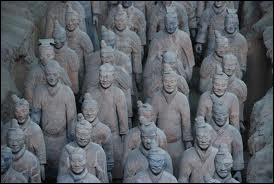 In 1974, in which country did archaeologists discover an army of thousands of terracotta statues ?