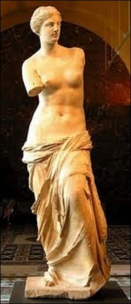 Where does the name of the most famous Venus in the Louvre museum come from ?