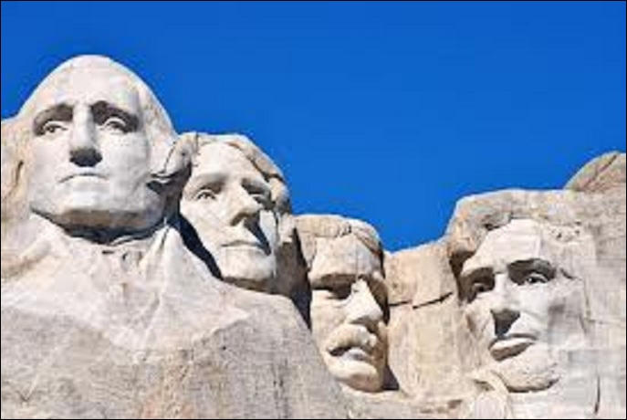 Which president does not figure on Mount Rushmore memorial in South Dakota ?