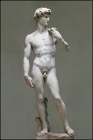 What is the name of the beautiful ephebe made by Michelangelo, a masterpiece of Renaissance sculpture ?